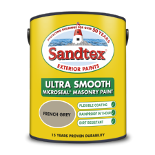 Sandtex 5L French Grey smooth masonry paint